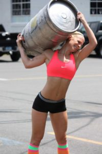 Crossfit Woman Keg Carry